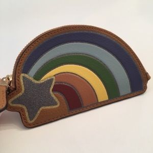 COACH Rainbow Coin Case in Pebbled Leather